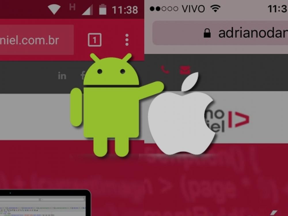 Alterando a cor da Statusbar / Toolbar do navegador em dispositivos iOS e Android