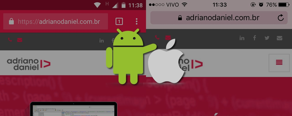 Alterando a cor da Statusbar / Toolbar do navegador em dispositivos iOS e Android